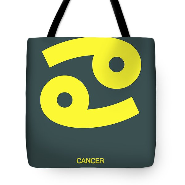 Cancer Zodiac Sign Yellow Tote Bag