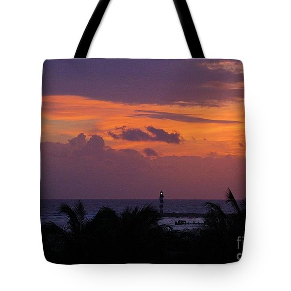 Cancun Lighthouse Tote Bag by Halifax photographer John Malone