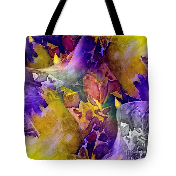 Tote Bag featuring the painting Candle Flower by Allison Ashton