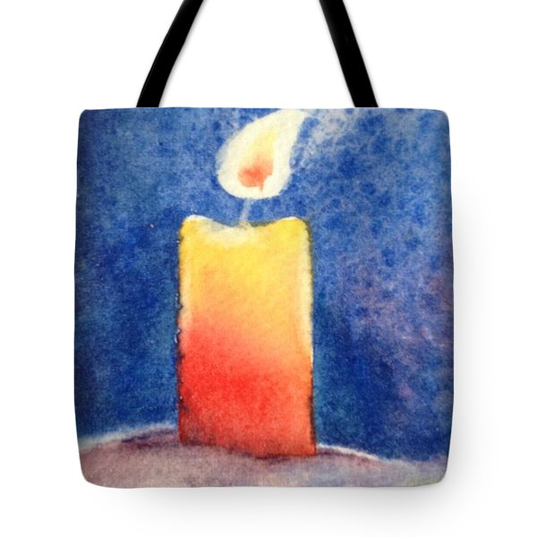 Candle Glow Tote Bag by Marilyn Jacobson