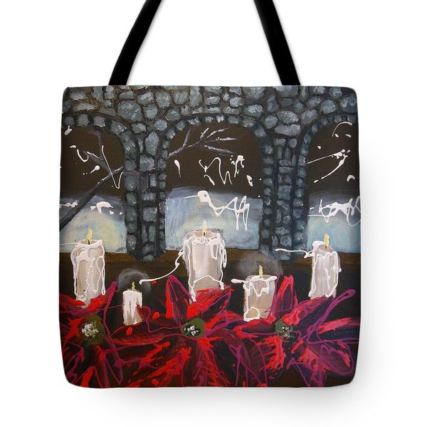 Candlelight Of Peace Tote Bag