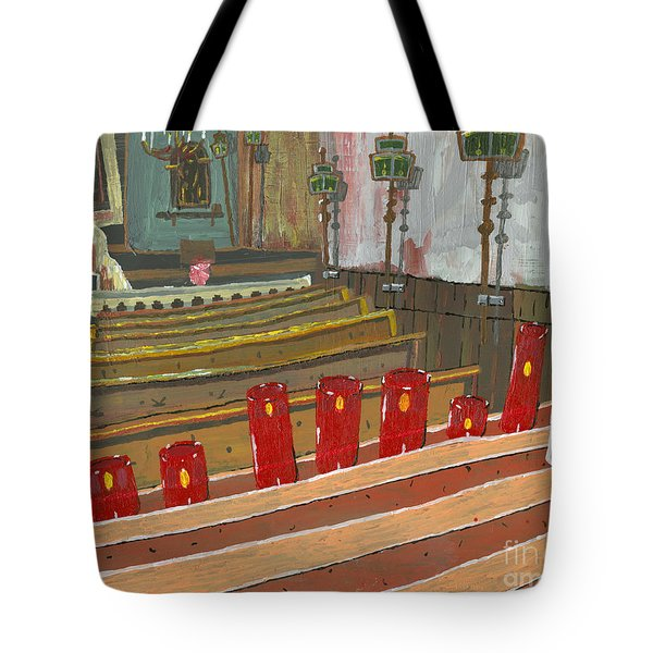Candles In Cinque Terra Tote Bag