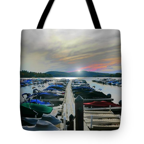 Candlewood Lake Tote Bag