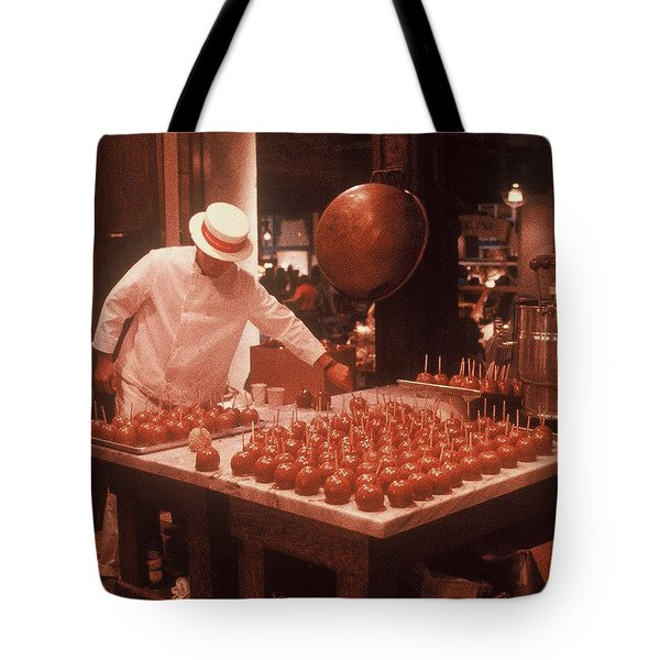 Tote Bag featuring the photograph Candy Apple Man by Rodney Lee Williams