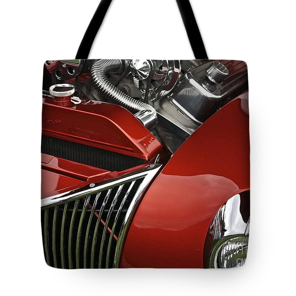 Candy Apple Red And Chrome Tote Bag