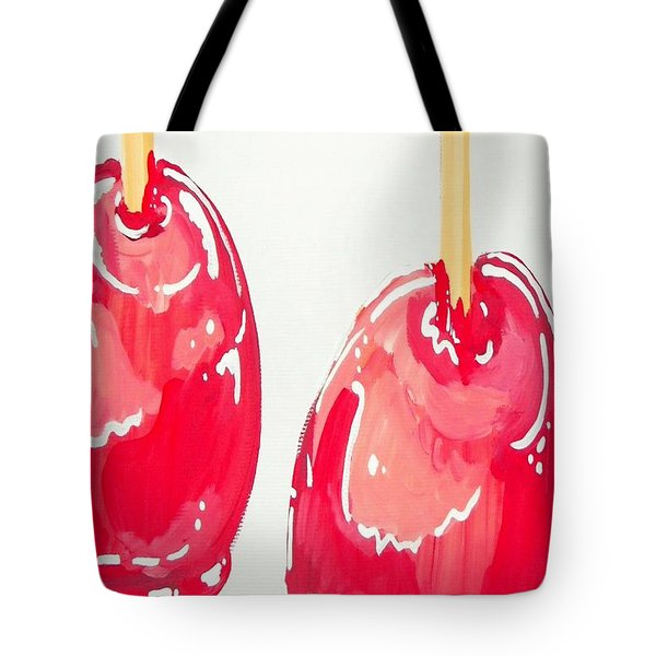 Candy Apples Tote Bag by Marisela Mungia