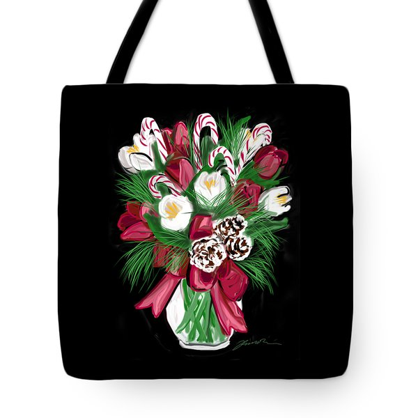 Candy Cane Bouquet Tote Bag by Jean Pacheco Ravinski