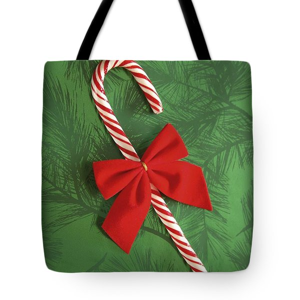 Candy Cane Tote Bag by Colette Scharf