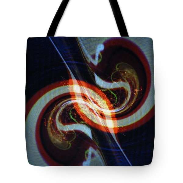 Candy Cane Swirl Tote Bag by Michael Kegg