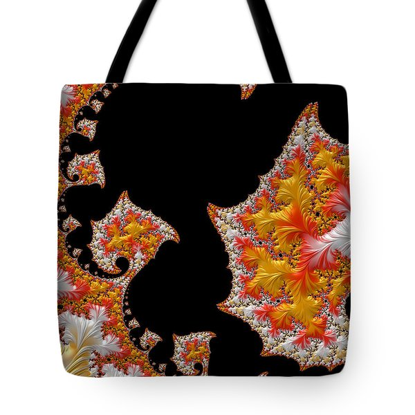 Tote Bag featuring the digital art Candy Corn by Susan Maxwell Schmidt