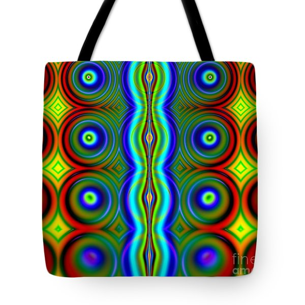 Candy Dots Fractal Tote Bag by Rose Santuci-Sofranko