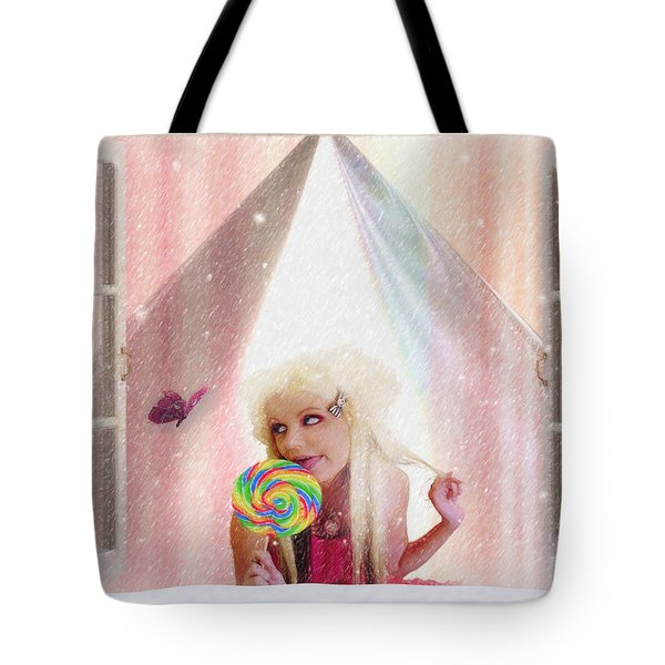 Tote Bag featuring the digital art Candy Kisses by Liane Wright