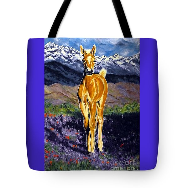 Candy Rocky Mountain Palomino Colt Tote Bag by Jackie Carpenter