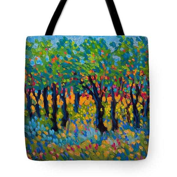 Candy Wood Tote Bag