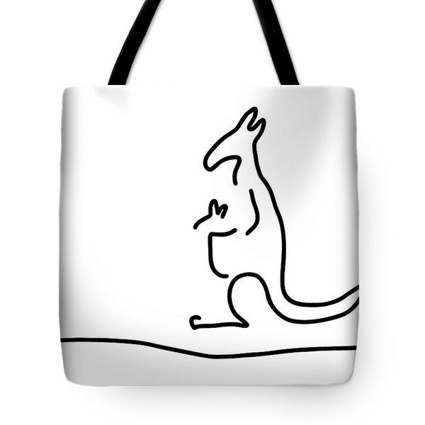 Cangarooh Kaenguru Bag Baby Tote Bag by Lineamentum