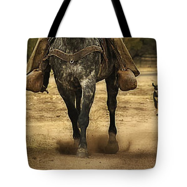 Canine Verses Equine Tote Bag by Priscilla Burgers