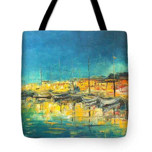 Cannes By Night Tote Bag