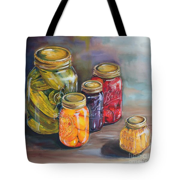 Canning Jars Tote Bag by Kristine Kainer