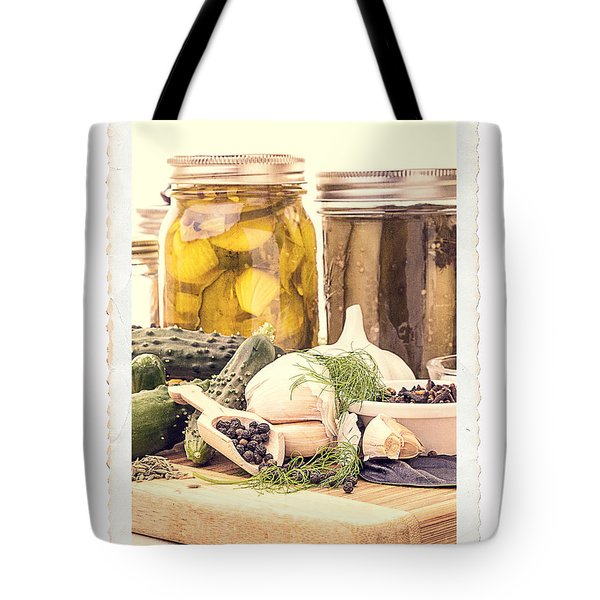Canning Kitchen Art Tote Bag by Edward Fielding