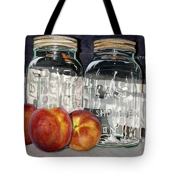Canning Time Tote Bag by Barbara Jewell