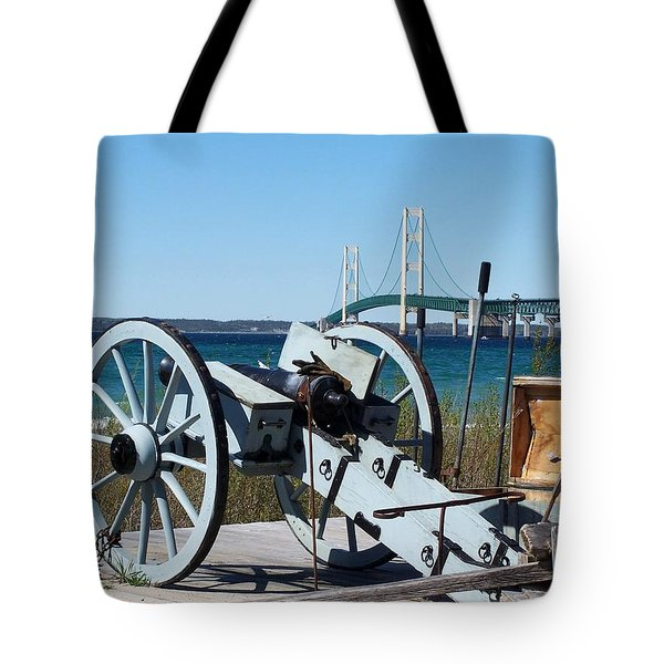 Cannon And Bridge Tote Bag by Keith Stokes
