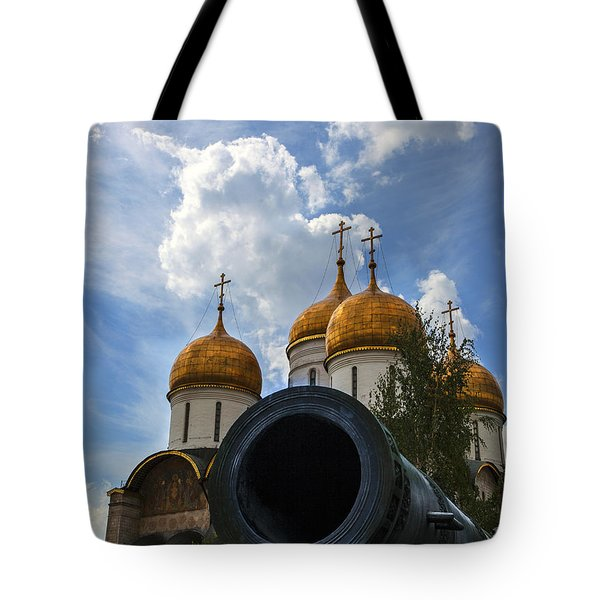 Cannon And Cathedral  - Russia Tote Bag