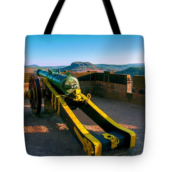 Cannon At The Fortress Koenigstein Tote Bag