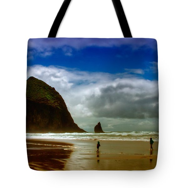 Cannon Beach At Dusk II Tote Bag by David Patterson