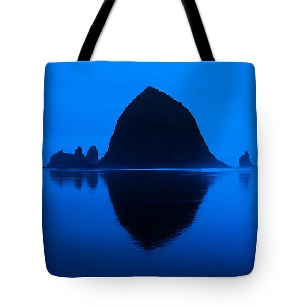Cannon Beach Blue Tote Bag