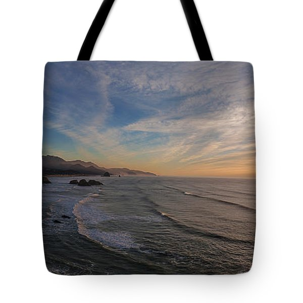 Cannon Beach Sunset Tote Bag by Mike Reid