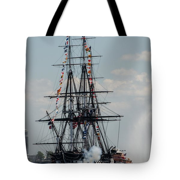Tote Bag featuring the photograph Cannon Fire by Mike Ste Marie
