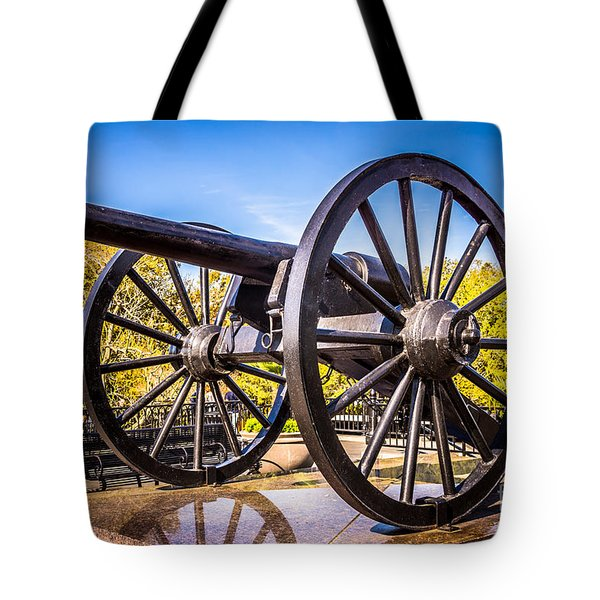 Cannon In New Orleans Washington Artillery Park Tote Bag by Paul Velgos