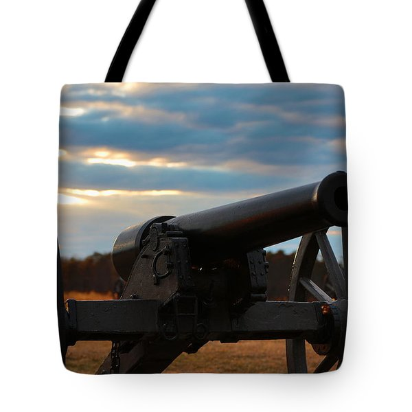 Cannon Of Manassas Battlefield Tote Bag