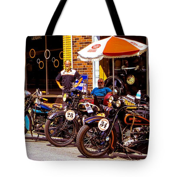 Cannonball Motorcycle Colors Tote Bag