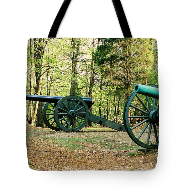 Cannons I Tote Bag by Anita Lewis