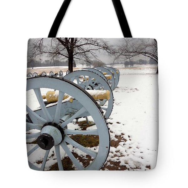 Cannon's In The Snow Tote Bag