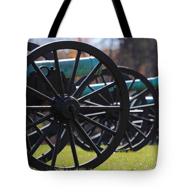 Cannons Of Manassas Battlefield Tote Bag