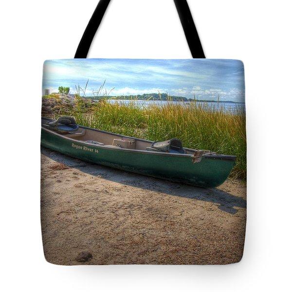 Canoe At Cedar Key Tote Bag