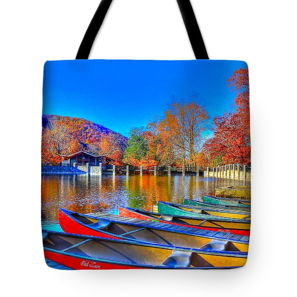 Canoe In Waiting Tote Bag