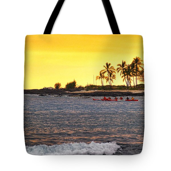 Canoe On Kona Coast Tote Bag by Athala Carole Bruckner