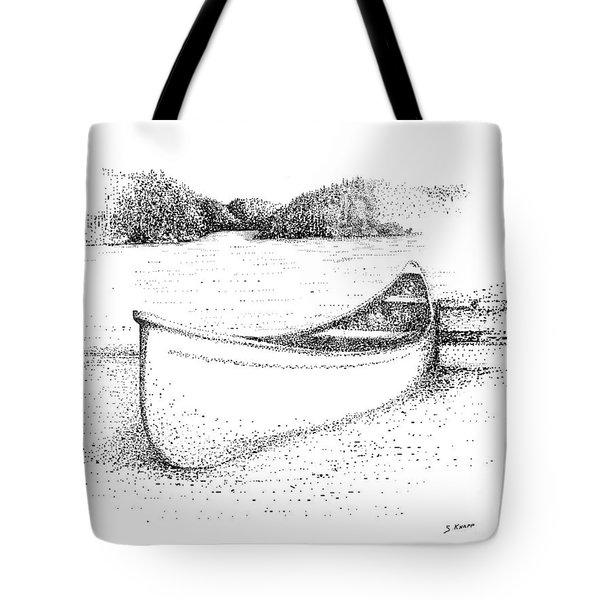 Canoe On The Beach Tote Bag by Steve Knapp