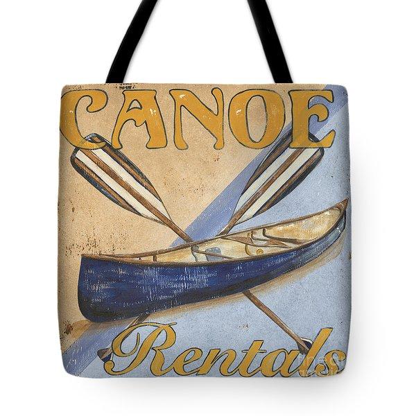 Canoe Rentals Tote Bag