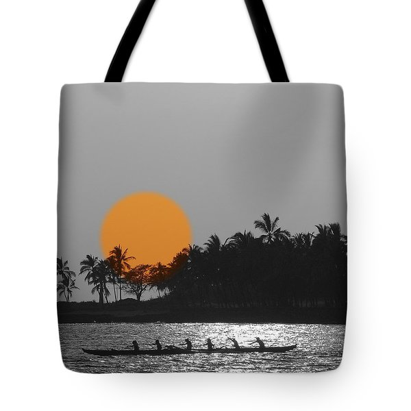 Canoe Ride In The Sunset Tote Bag by Athala Carole Bruckner