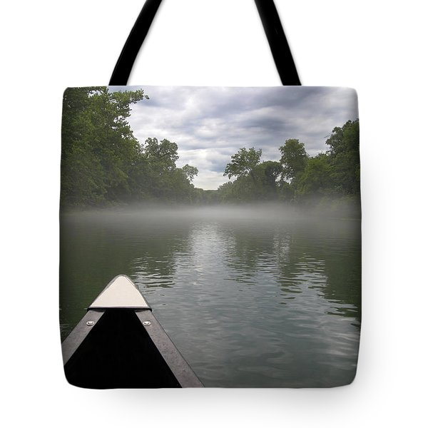 Canoeing The Ozarks Tote Bag by Adam Romanowicz