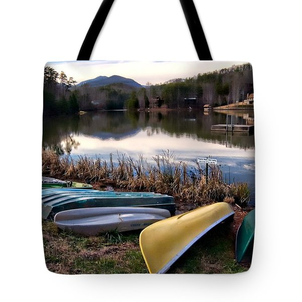 Canoes In Nc Tote Bag