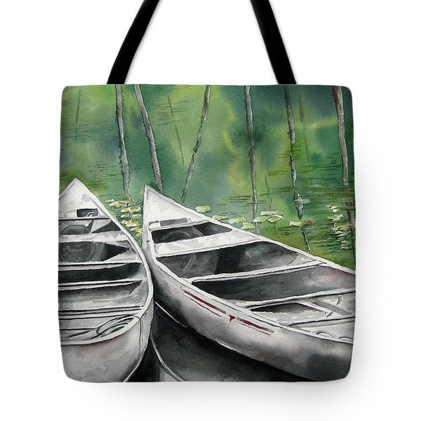 Canoes To Go Tote Bag by Mary McCullah