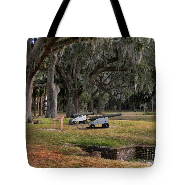 Canons Of Fort Frederica Georgia Tote Bag