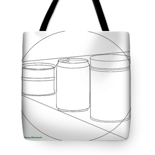 Tote Bag featuring the digital art Cans Aid Recycling - Wallpaper by Mudiama Kammoh