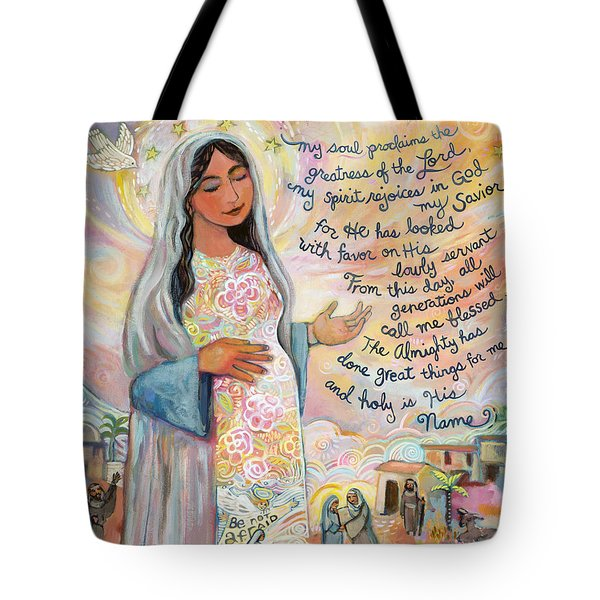 Canticle Of Mary Tote Bag