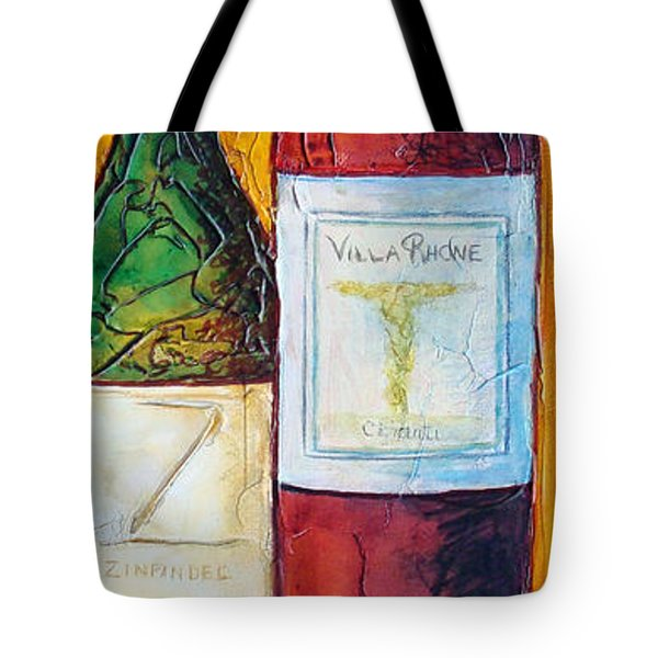 Tote Bag featuring the mixed media Cantina Campione by Phyllis Howard